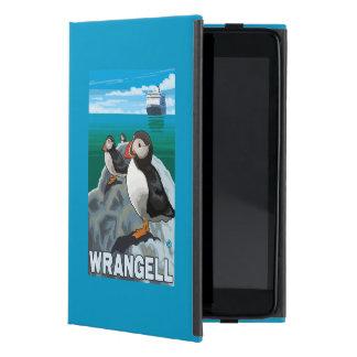 Puffins & Cruise Ship - Wrangell, Alaska Cover For iPad Mini