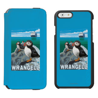 Puffins & Cruise Ship - Wrangell, Alaska Incipio Watson™ iPhone 6 Wallet Case