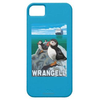 Puffins & Cruise Ship - Wrangell, Alaska iPhone 5 Cases