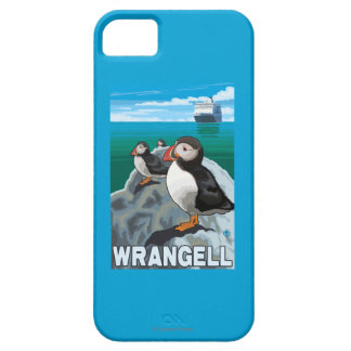 Puffins & Cruise Ship - Wrangell, Alaska iPhone 5 Cover