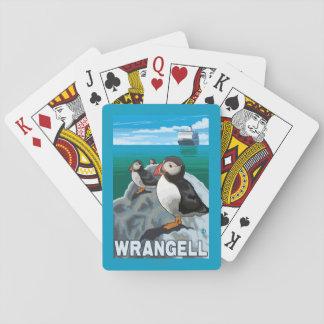 Puffins & Cruise Ship - Wrangell, Alaska Poker Deck