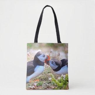 Puffins Kissing Bag