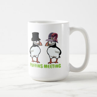 Puffins Meeting Mugs