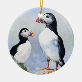 Puffins Ornament