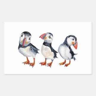 Puffins Rectangular Sticker