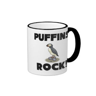 Puffins Rock Ringer Mug