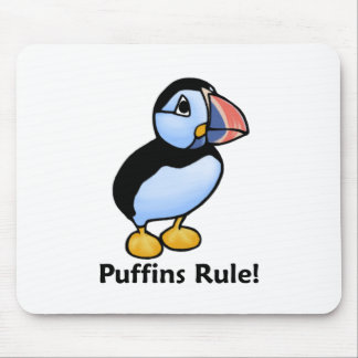 Puffins Rule! Mouse Mat