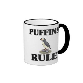 PUFFINS Rule! Ringer Coffee Mug