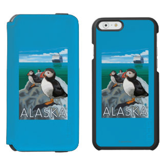 Puffins watching a Cruise Ship Incipio Watson™ iPhone 6 Wallet Case