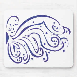 Puffy Butterfly Right Mouse Pad