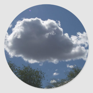 Puffy Cloud Round Sticker