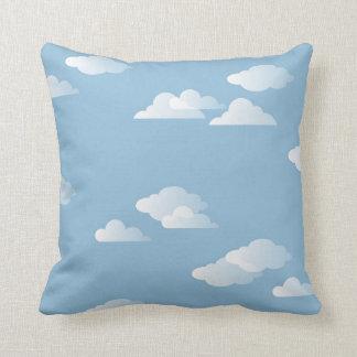 Puffy Clouds Sky Blue White Daydream Cushion