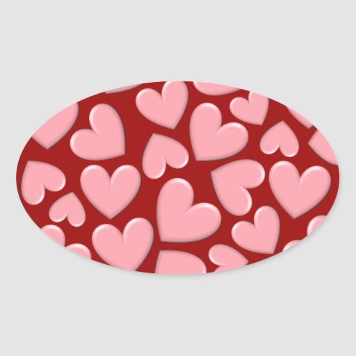Puffy Hearts Stickers