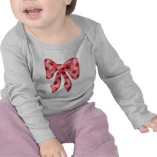 puffy pink polkadot graphic bow tie t shirts