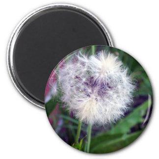 Puffy White 6 Cm Round Magnet
