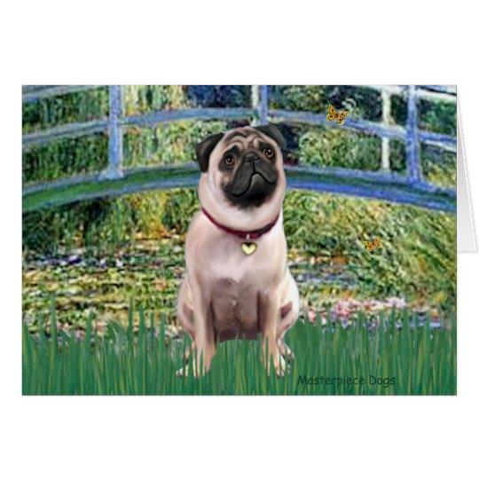 Pug 1 (fawn) - Bridge Card