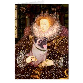 Pug 2 (fawn) - Queen Card
