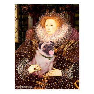 Pug 2 (fawn) - Queen Postcard
