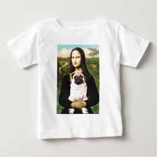 Pug 3 (fawn) - Mona Lisa Baby T-Shirt
