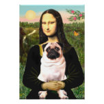 Pug 3 (fawn) - Mona Lisa Posters