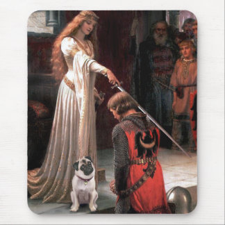 Pug 5 (fawn) - The Accolade Mouse Pad