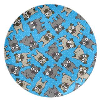 Pug-a-Dot (Blue) Plate