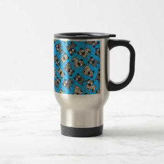Pug-a-Dot (Blue) Stainless Steel Travel Mug