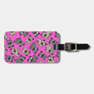 Pug-a-Dot (Pink) Luggage Tag
