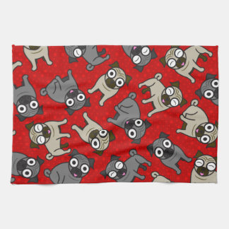 Pug-a-Dot (Red) Towel