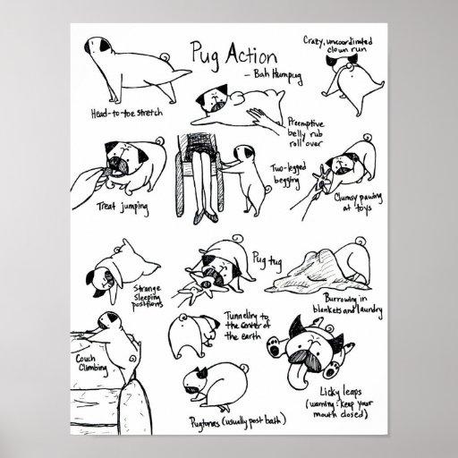 Pug Action Print