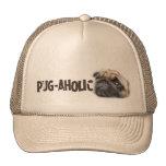 Pug-aholic Trucker Hats