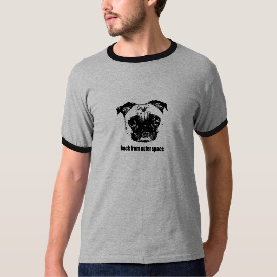 pug alien - retro -back from outer space