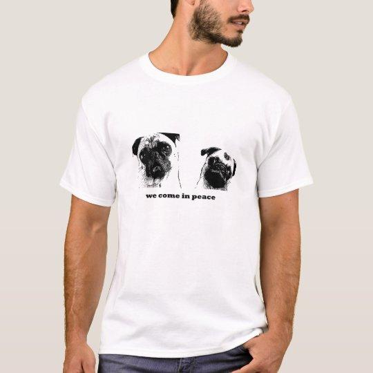 pug alien -we come in peace copy T-Shirt