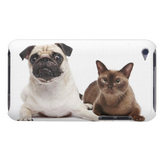 Pug and Burmese cat Barely There iPod Covers