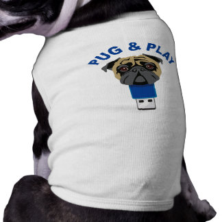 Pug and Play Sleeveless Dog Shirt