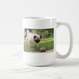 Pug and Turtle Meeting - Customize Coffee Mugs
