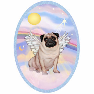 Pug Angel (#17 in Heaven's Clouds Standing Photo Sculpture