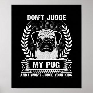 Pug Animal Poster