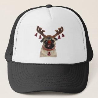 Pug antlers - christmas pug - merry christmas trucker hat