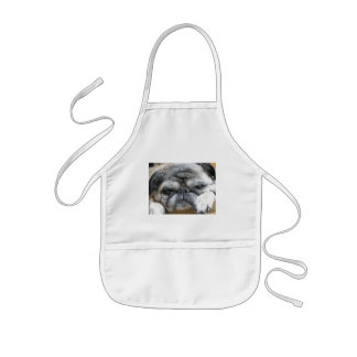 pug kids apron