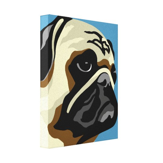 Pug Art Canvas Print