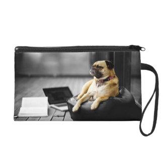 Pug at Rest Wristlet Clutches