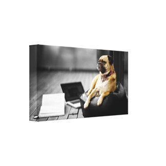 Pug at Rest Gallery Wrapped Canvas