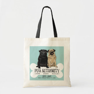 Pug Authority Budget Tote Canvas Bags