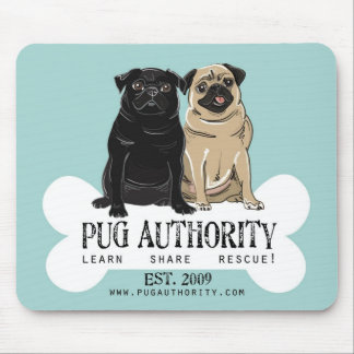 Pug Authority Mouse Pad