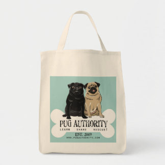 Pug Authority Organic Tote Grocery Tote Bag