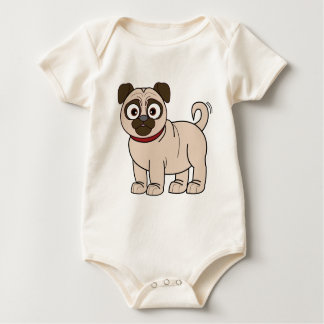 Pug Baby Bodysuit