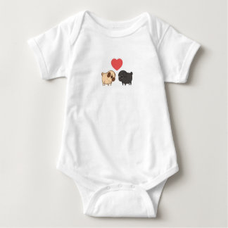 Pug baby one piece baby bodysuit