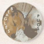 Pug & Beagle Coaster