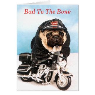 Pug Biker Card
